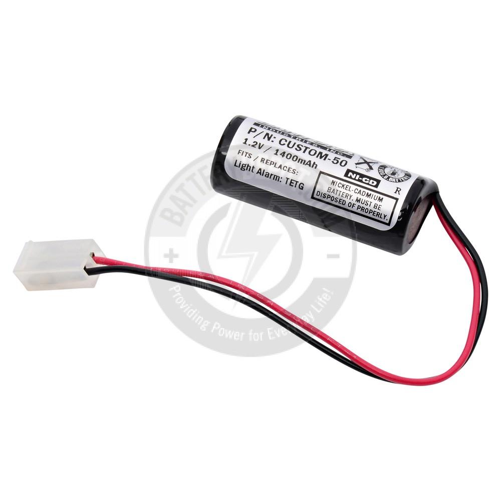 Emergency Lighting Battery For Light Alarms And Teig Cm 1025 Nickel Alarm