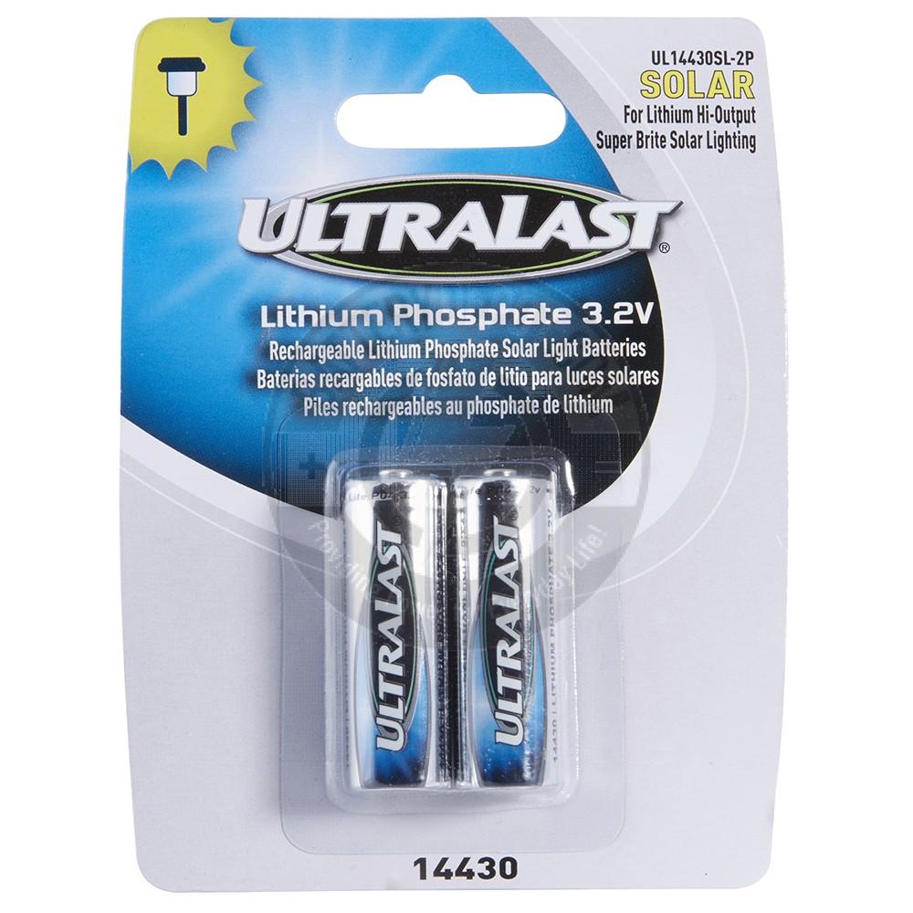 14430 LiFePO4 2 Pack