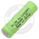 Rechargeable AA flat top battery