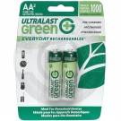 Rechargeable AA battery, 2 Pack