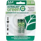 Rechargeable AAA battery, 2 Pack