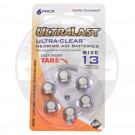 Size 13 Hearing Aid Battery, 6 Pack
