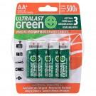 Ultralast High Power Ni-Mh AA, 4 Pack