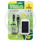 2 Slot Solar Charger for AA Batteries