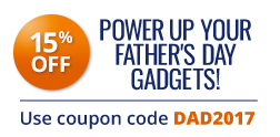 15% off entire order, use coupon code DAD2017